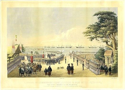 Commodore-Perry-Visit-Kanagawa-1854