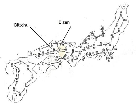 55 Bizen Bittchu map